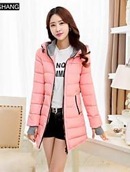 ropa de algodón acolchado de moda sudadera con capucha de bs®women larga ropa de abrigo