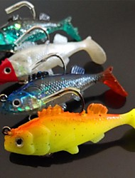 60mm 9.5g мягкие приманки рыба рыбалка 4 (шт / упаковке) с крючками