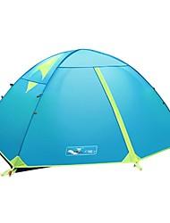 zorro plateado al aire libre profesional tiendas de campaña 2 personas varilla de aluminio de la aviación de la capa doble de camping senderismo