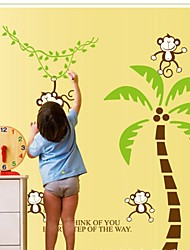 Wall Stickers Wall Decals, Cartoon Monkey PVC Wall Stickers