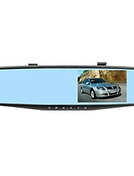 reflète voiture DVR caméra à double focale 4,3 pouces à écran 140 degrés mouvement g-capteur détecte la nuit vison