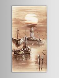 iarts pintura a óleo barcos paisagem moderno oceano mão telas pintadas com quadro esticado