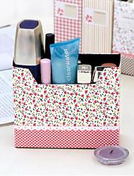 сельское цветочными клумбами шаблон DIY бокс для хранения бумаги (случайные цвета)