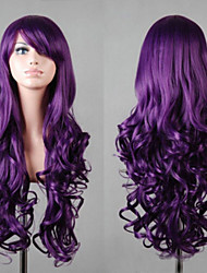 Fashion Popular Anime Inclined Bang Purple Large Waves