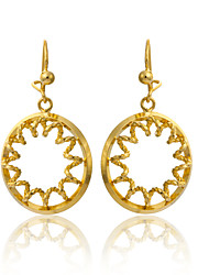 Women's Unique Design 18K Gold Plating Pendant Earrings