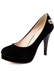 Women's Shoes Round Toe Stiletto Heel Suede Pumps Shoes More Colors available