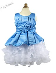 Big Elephant NEW Baby Girl Evening Clothes Kids Party Dress Sets Ball Gown Outfits For 2-8 Y F34 Blue