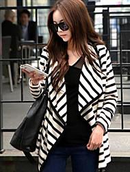 женская новейший Корея Стиль полоса пальто