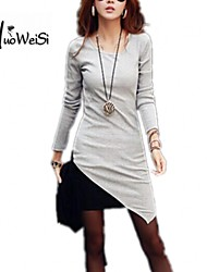 Nuo wei si ®  Women's Winter Long Sleeve Knitted Jumper Sweater Dress