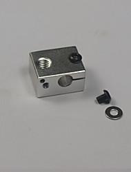 xc3d fabricant 3d imprimante bloc de chauffage en aluminium pour v6 E3D j-tête