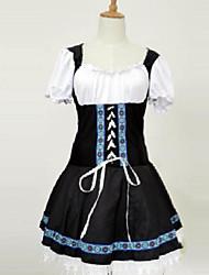 довольно Октоберфест германия горничной черный терилена костюм hallewoon