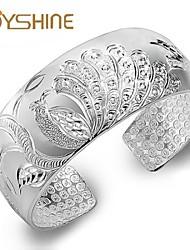 De joyshine damesmode S999 duizenden mooie zilveren pauw patroon meisje sterling zilveren armband ongeveer 58g