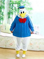 Kigurumi Pajamas Duck Leotard/Onesie Festival/Holiday Animal Sleepwear Halloween White Blue Patchwork Coral fleece Kigurumi For Unisex