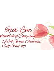 Personalized Product Labels / Address Labels Flower Pattern White Film Paper