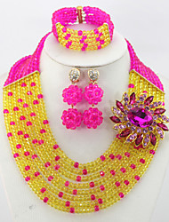 African Crystal Beads Jewelry Sets African Wedding Jewelry Set for Brides