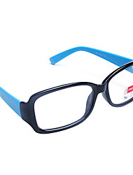 [Frame Only] Candy Color Rectangle Full-Rim Retro Eyeglasses