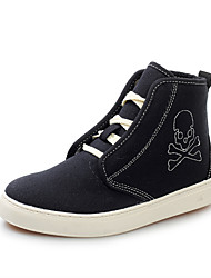 Men's Shoes Casual Canvas / Fabric Fashion Sneakers Black / Gray / Beige