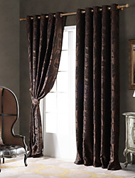 Country Curtains® One Panel Coffee Vine/Floral Chenille Blackout Curtain