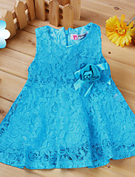 Girl's Beautiful Sleeveless Bowknot Sequined Dress