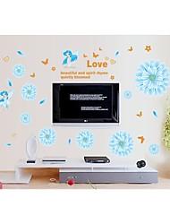 decalques de parede adesivos de parede, parede estilo flor pvc memória adesivos