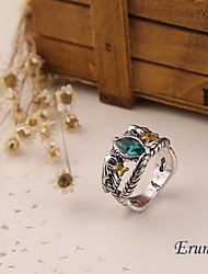Eruner® Hobbit Aragorn ring vintage retro the hobbit antique silver green crystal for men and women wholesale
