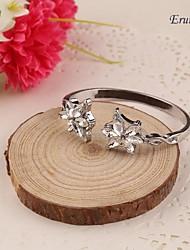 Eruner® The Lord of the Rings Dusk Star Bracelet Angle Flower Crystal Bracelet Angle Bangle for Women