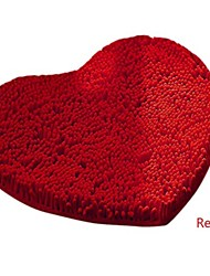 Casual Chenille  Cute Heart Carpet  50cm*60cm Bath Rugs