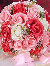 #(1) 1 Филиал Пенопласт Розы Букеты на стол Искусственные Цветы 26 x 26 x 33cm (10.24 x 10.24 x 12.99''))
