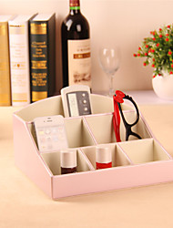 Wedding Gifts Faux Leather Storage Box Jewellery Brooch Earring Display Organizer Comestic Holder