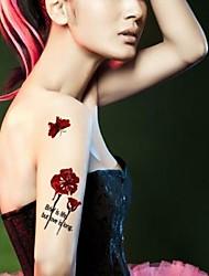 Yimei - Tatuajes Adhesivos - Non Toxic/Waterproof - Series de Animal - Bebé/Niños/Mujer/Girl/Adulto - Rojo - Papel - 5 - 20.5*10.5cm