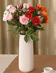 """19.2 """"l Satz 1 romantisches 4 Köpfe Rosen Seidentuch Blumen"""