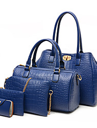 VERSACE Women's Fashion All Match Alligator Pattern Five Pieces Bag