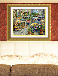 village scenery painting embroidery Southeast Asia Diamond Cross Stitch Needlework Wall Home Decor 41*52cm