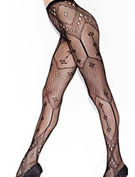 Women Sexy Thin Mesh Serpentine Pattern Pantyhose