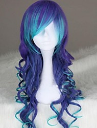 Beautiful big waves double-color inclined bang curly hair