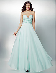 Formal Evening Dress Plus Sizes / Petite A-line Sweetheart Floor-length Chiffon