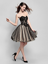 Homecoming Cocktail Party Dress Ball Gown Sweetheart Knee-length Tulle