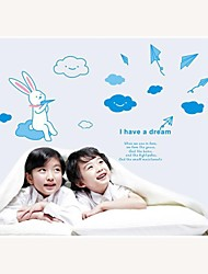 Wall Stickers Wall Decals, Style Dream of Paper Plane PVC Wall Stickers