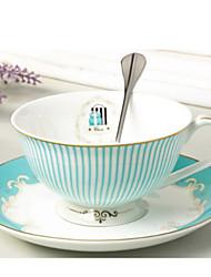 raya simple taza de café china conjunto cuchara plato