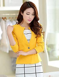 Women's Casual Medium Long Sleeve Short Blazer