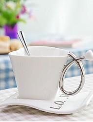 Beautiful Elegant Ceramic Love Heart-Shape Cups 9*9*13.5 cm