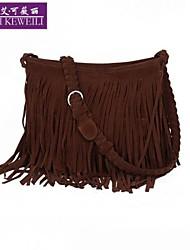 AIKEWEILI®Women's Handbag Fashion Weave Tassels PU Leather Crossbody Bag Casual Travel Single Shoulder Messenger Bag