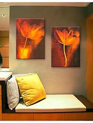 E-Home® Leinwand Kunstblumendekoration Malerei Satz 2