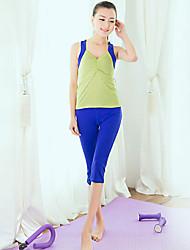 Mujer Yoga Trajes Sin Mangas Verde Yoga M / L / XL