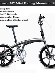 "7 vitesses 20 ""VTT mini pliage Kaijie ™ shimano châssis en alliage d'aluminium transmission 6 rayons de roues"