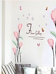 moda rosa removível PVC callalily comum sticker