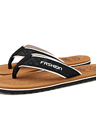 Men's Shoes Outdoor / Casual Microfibre Flip-Flops Black / Brown