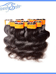 40pcs 2 kg lot Vente en gros cheveu humain ondes de corps 100% des extensions de Malaisie 5a bon marché vierge de cheveux humains color1b
