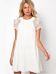 Women's Button Chiffon Dress