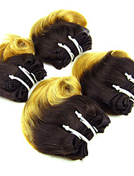 Омбре Бразильские волосы Волнистый волосы ткет